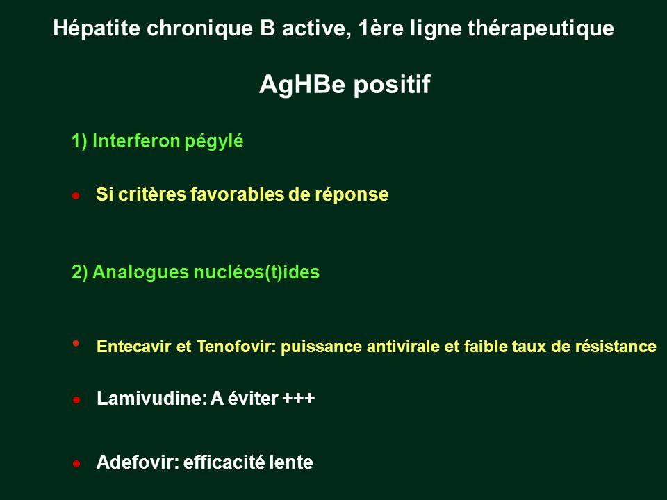Hépatite chronique B active, 1ère ligne thérapeutique