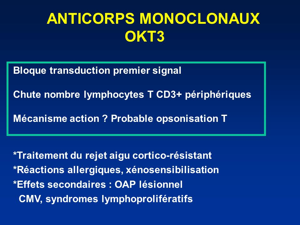 ANTICORPS MONOCLONAUX OKT3