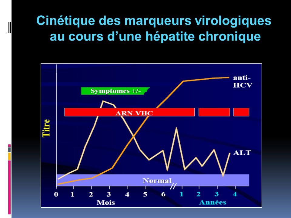 Cinétique des marqueurs virologiques au cours d'une hépatite chronique