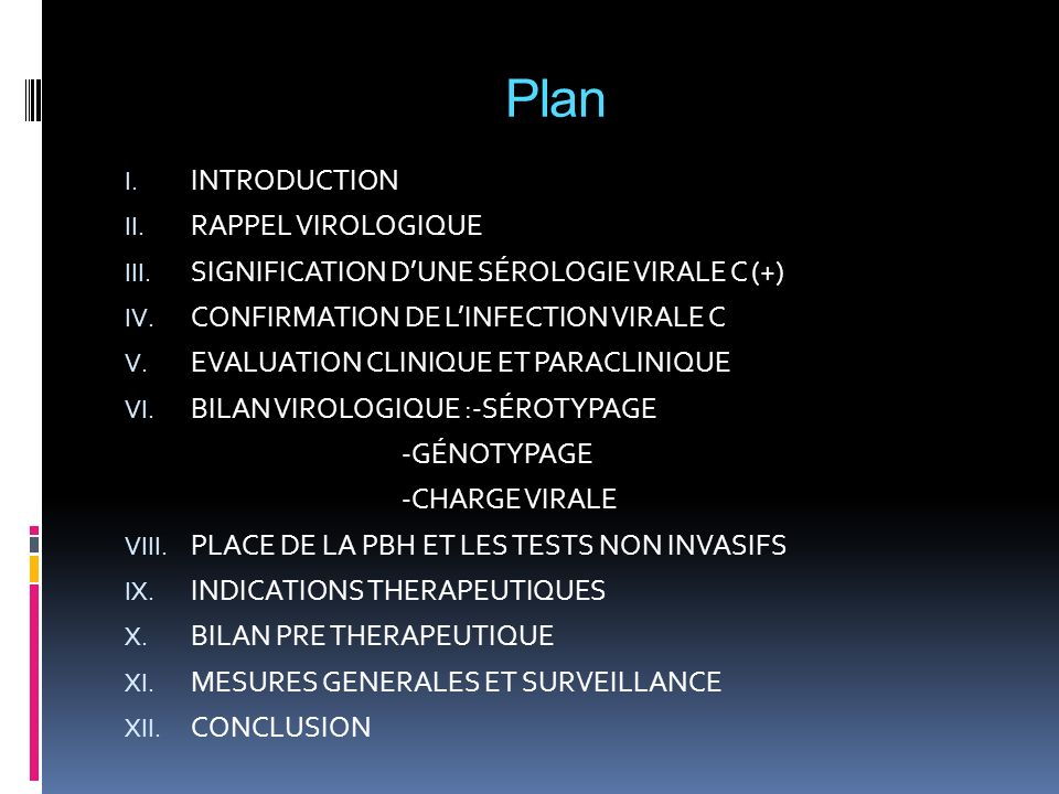 Plan INTRODUCTION RAPPEL VIROLOGIQUE