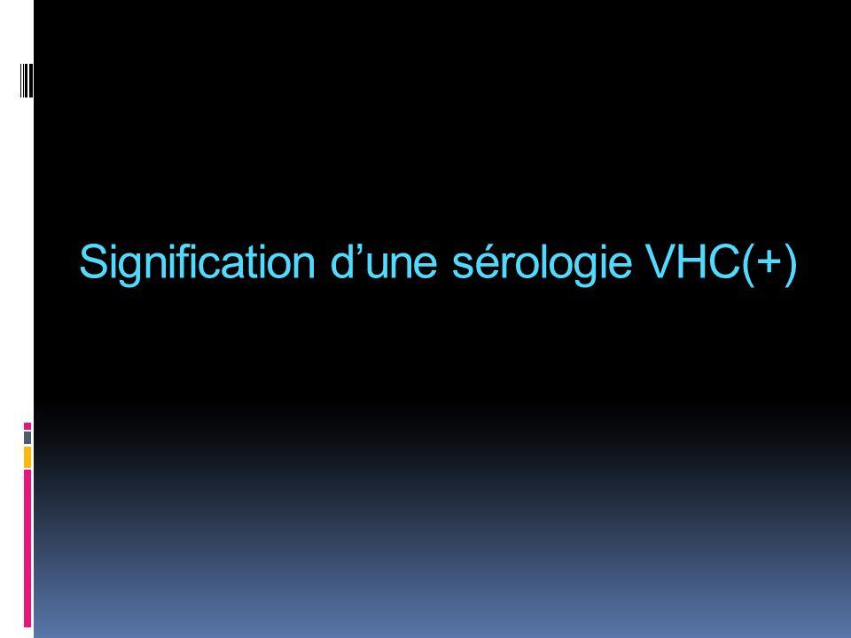 Signification d'une sérologie VHC(+)