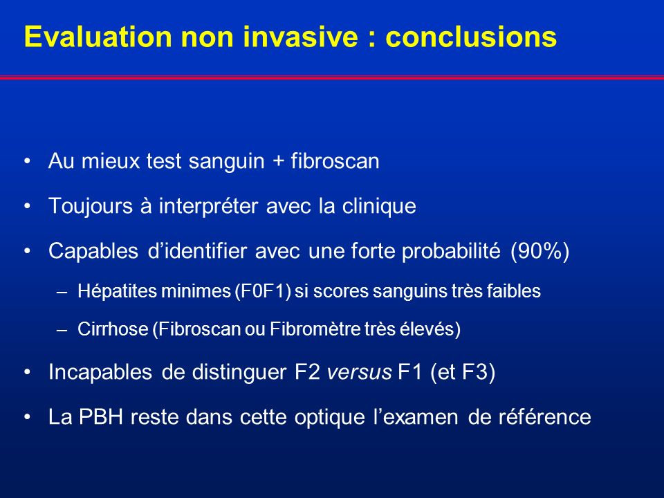 Evaluation non invasive : conclusions