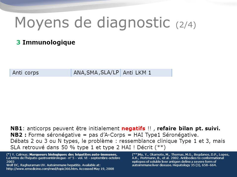 Moyens de diagnostic (2/4)