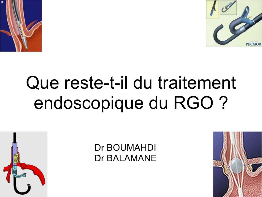Que reste-t-il du traitement endoscopique du RGO