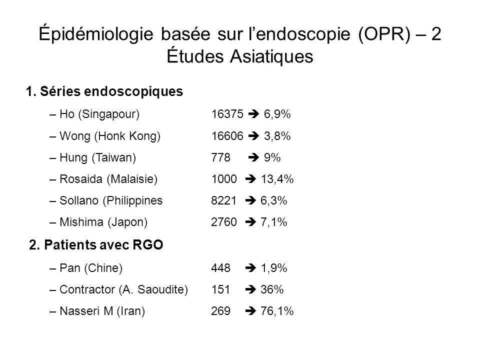 Épidémiologie basée sur l'endoscopie (OPR) – 2 Études Asiatiques