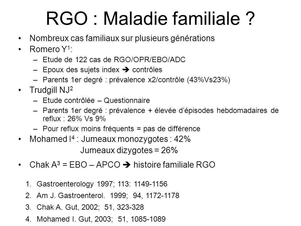 RGO : Maladie familiale
