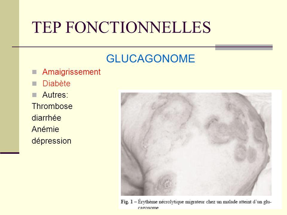 TEP FONCTIONNELLES GLUCAGONOME Amaigrissement Diabète Autres: