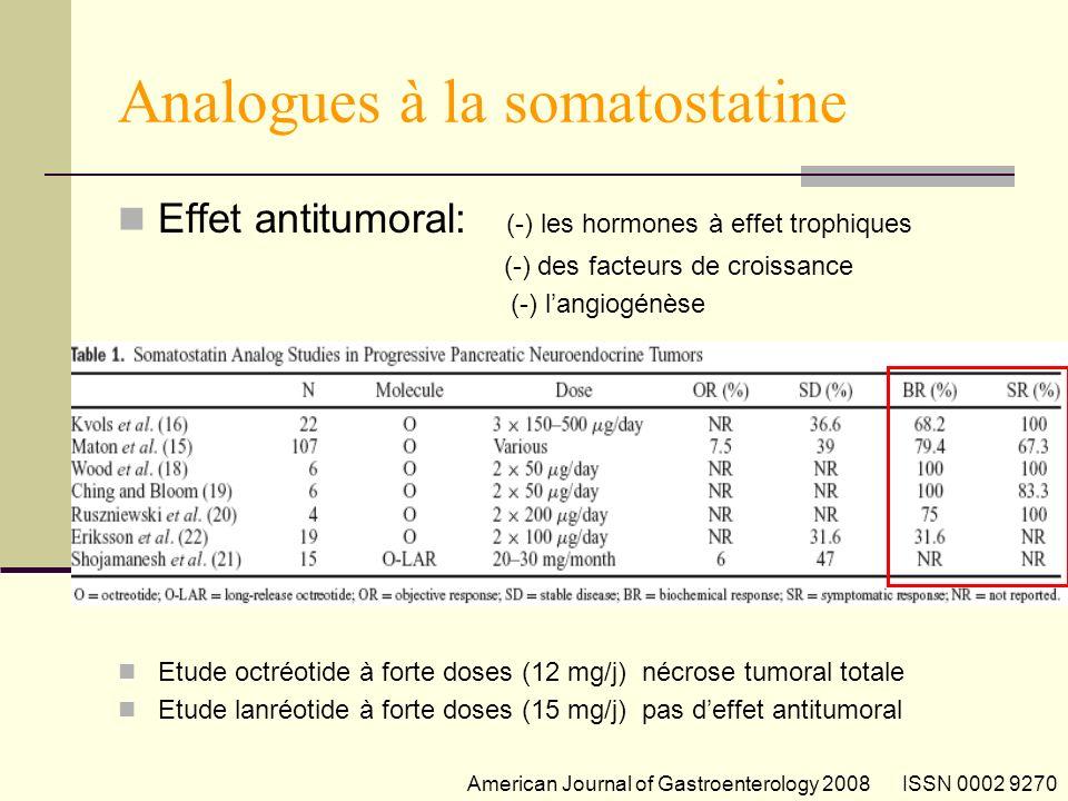 Analogues à la somatostatine