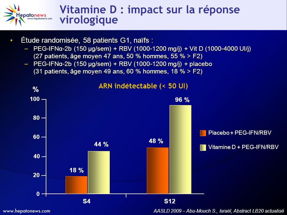 Vitamine D : impact sur la réponse virologique