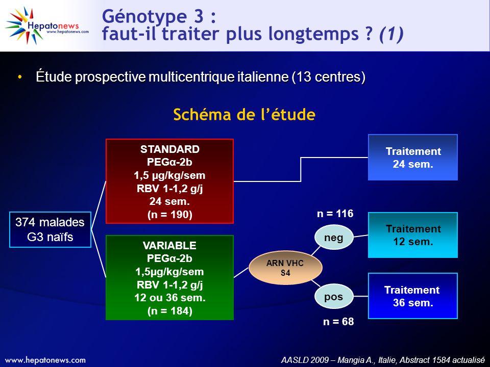 Génotype 3 : faut-il traiter plus longtemps (1)