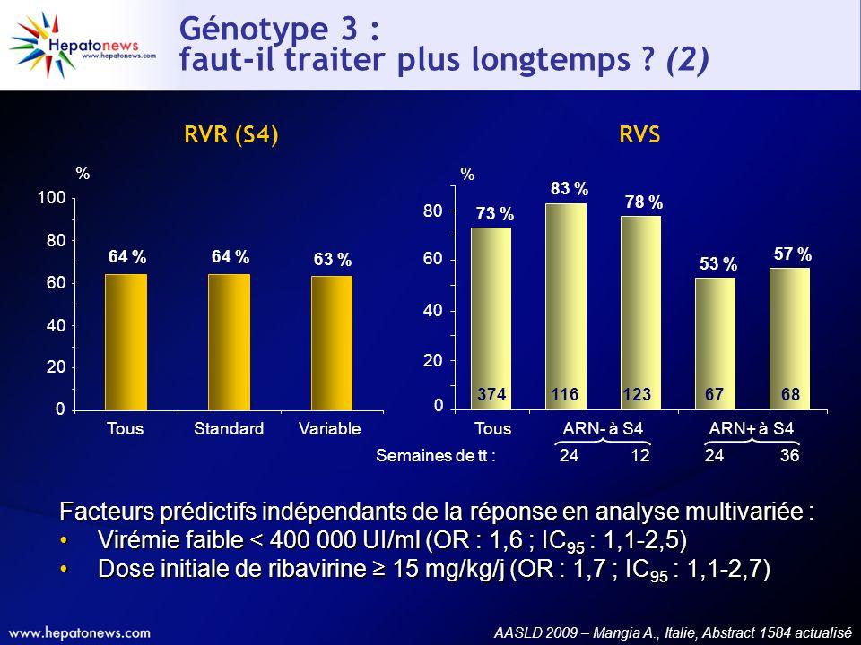 Génotype 3 : faut-il traiter plus longtemps (2)