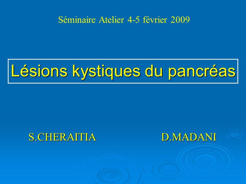 Lésions kystiques du pancréas