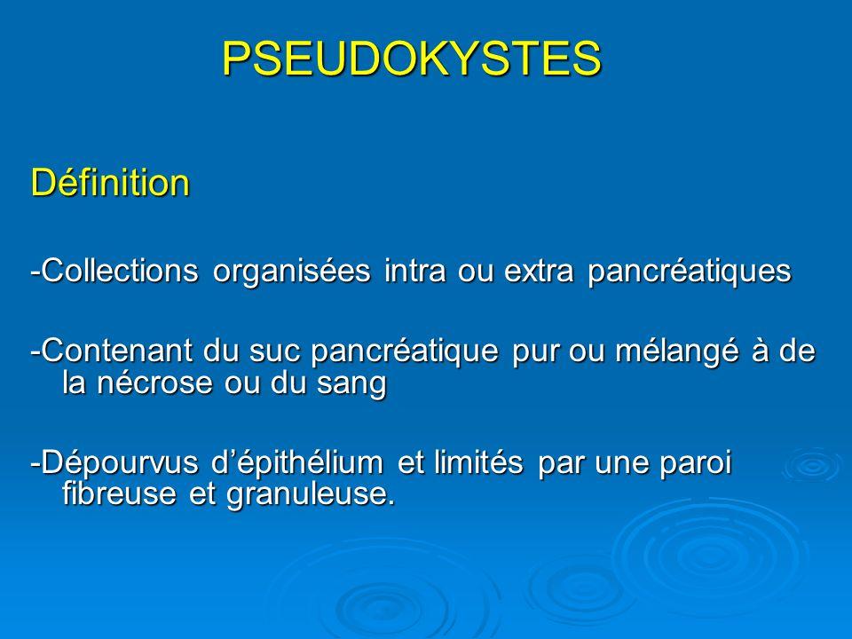 PSEUDOKYSTES Définition