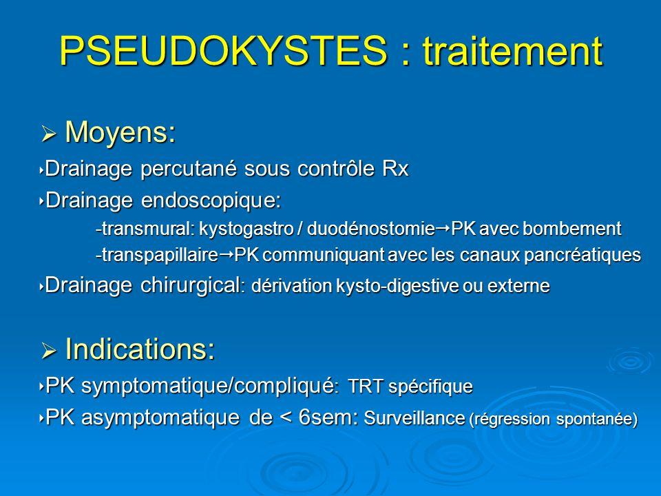 PSEUDOKYSTES : traitement