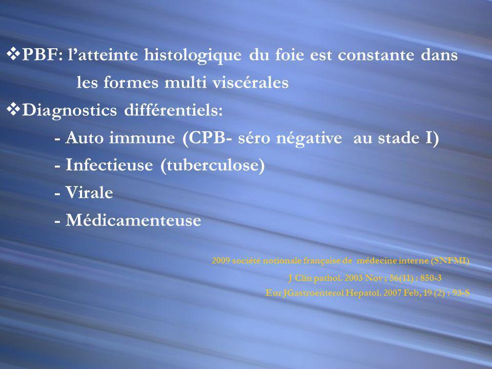 PBF: l'atteinte histologique du foie est constante dans