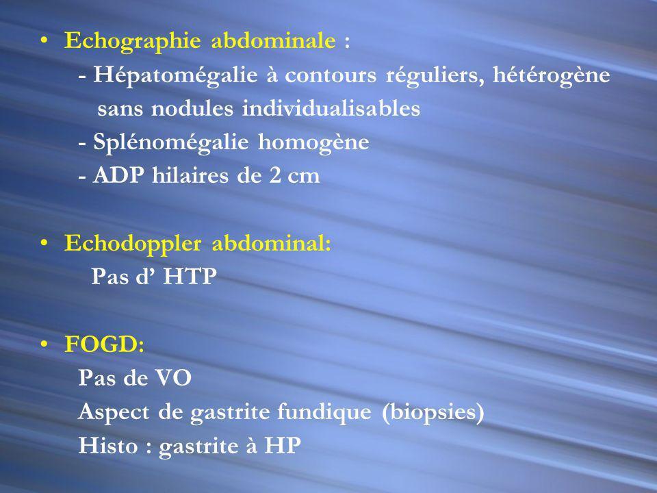 Echographie abdominale :