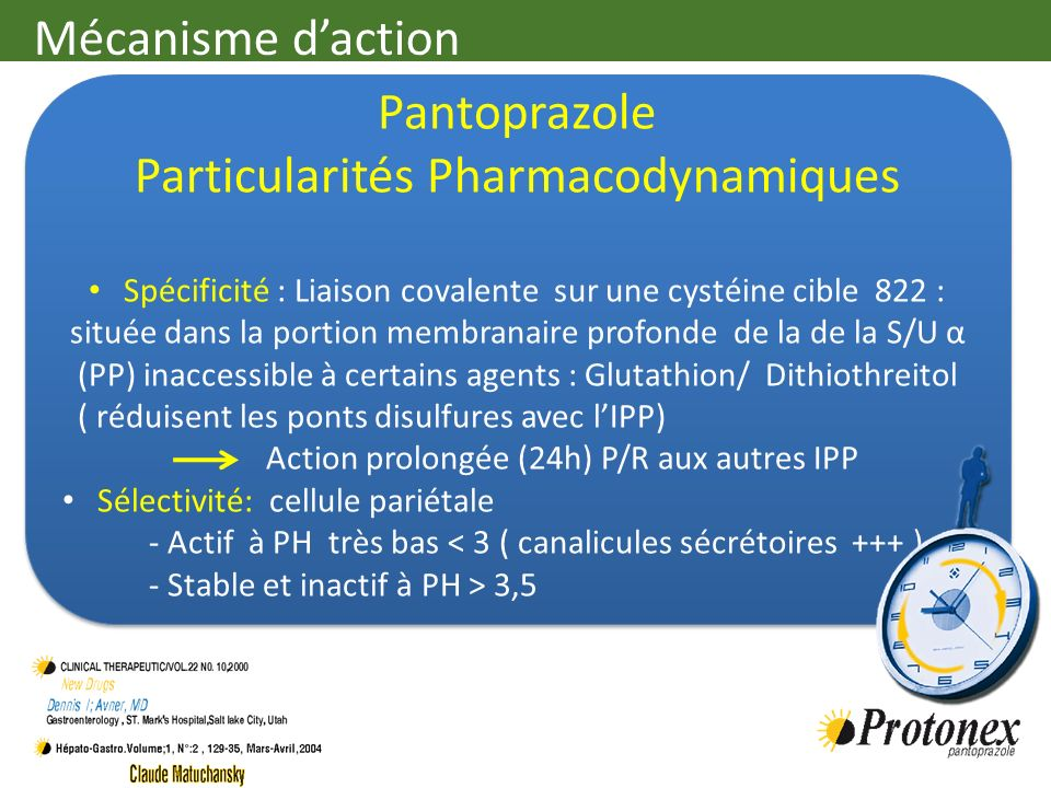 Particularités Pharmacodynamiques