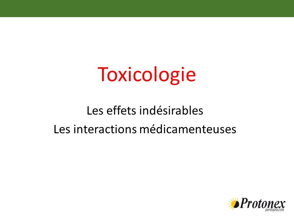 Les effets indésirables Les interactions médicamenteuses