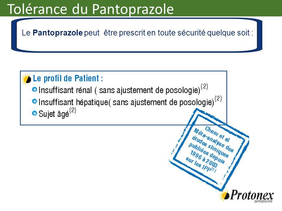 Le Pantoprazole peut être prescrit en toute sécurité quelque soit :