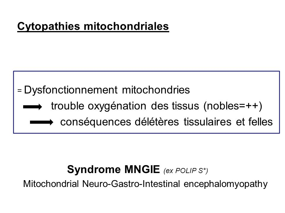 Cytopathies mitochondriales