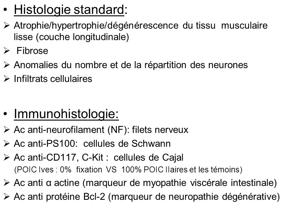 Histologie standard: Immunohistologie: