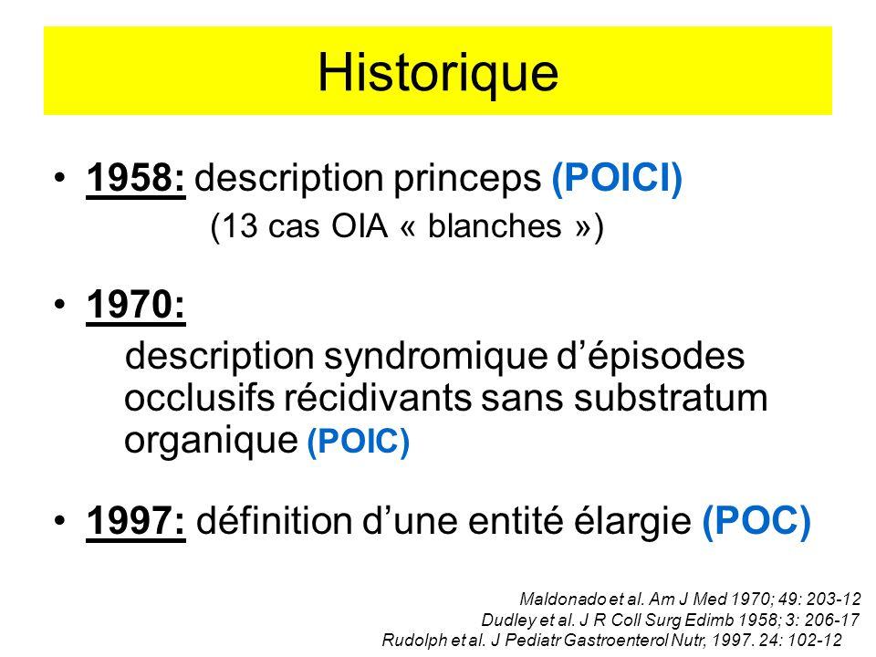 Historique 1958: description princeps (POICI) 1970: