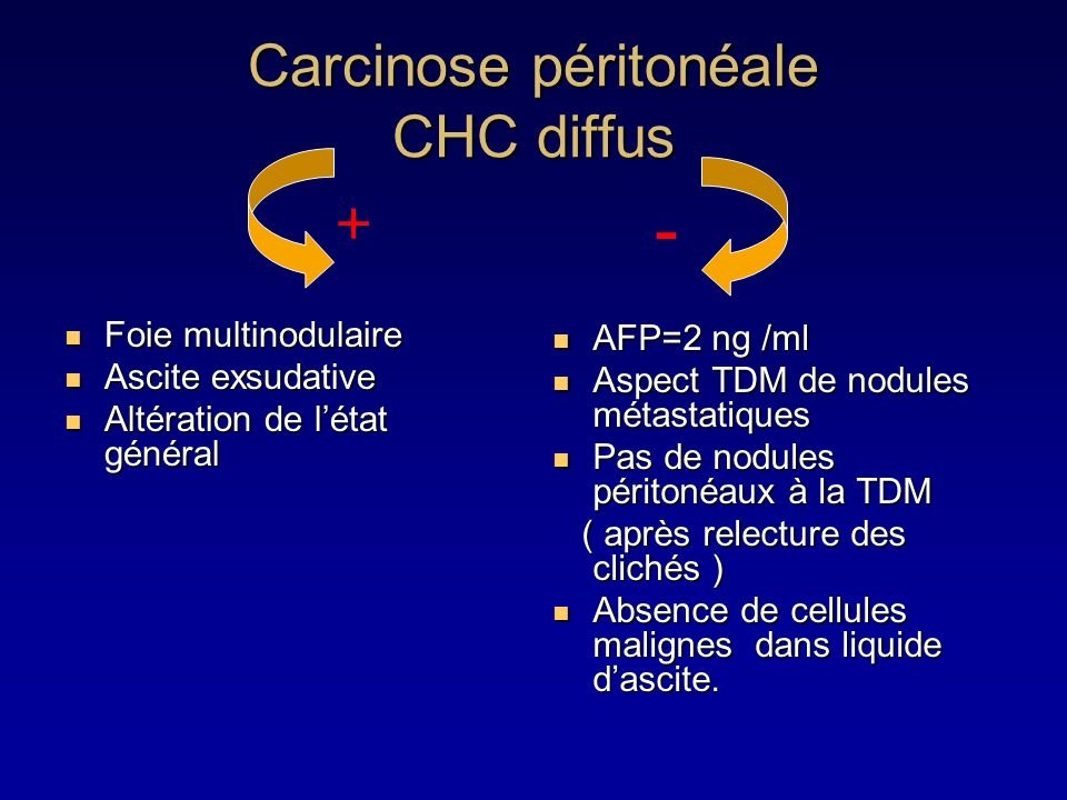 Carcinose péritonéale CHC diffus