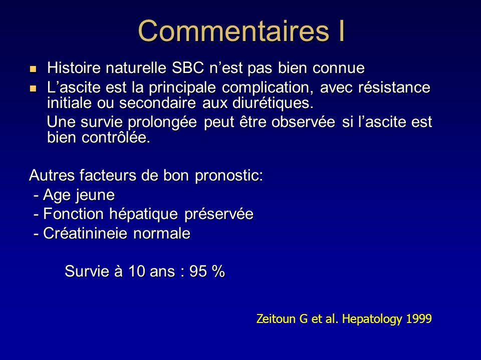 Commentaires I Histoire naturelle SBC n'est pas bien connue