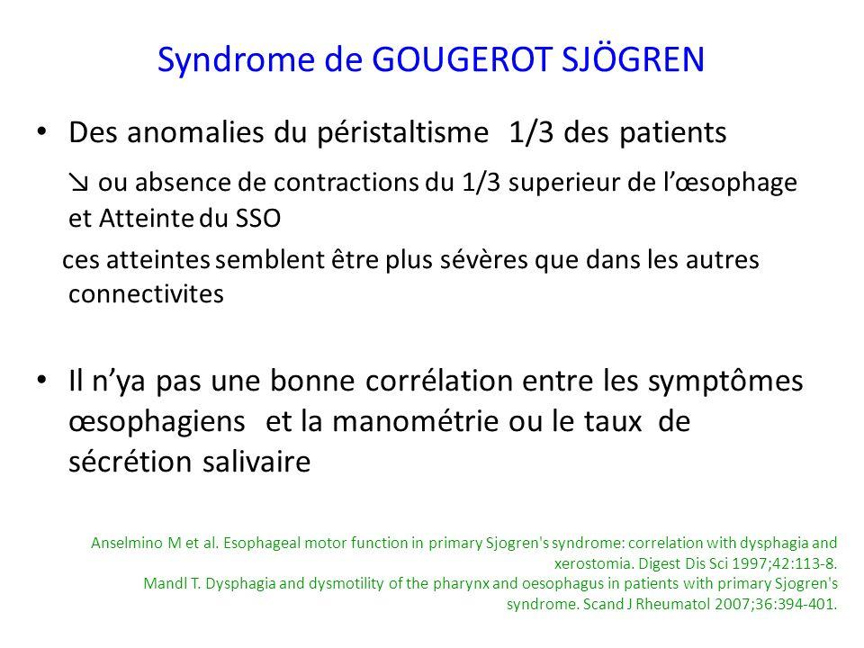 Syndrome de GOUGEROT SJÖGREN