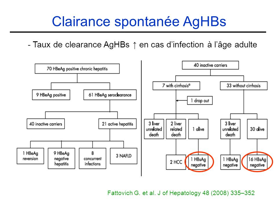 Clairance spontanée AgHBs