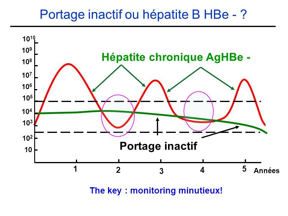 Portage inactif ou hépatite B HBe -