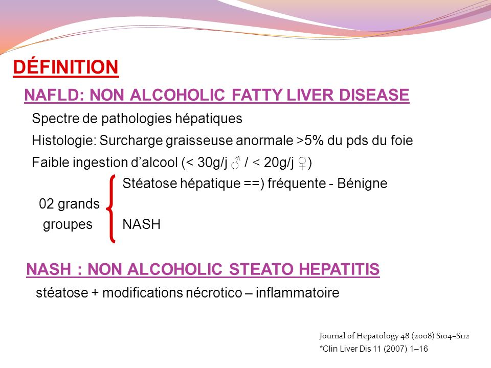 DÉFINITION NASH : NON ALCOHOLIC STEATO HEPATITIS