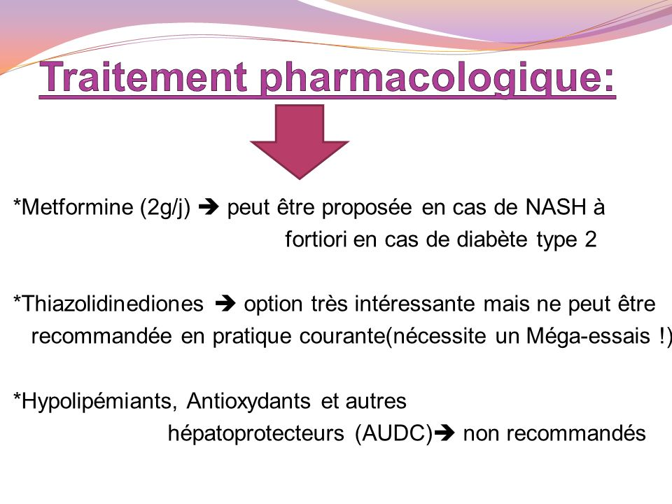 Traitement pharmacologique: