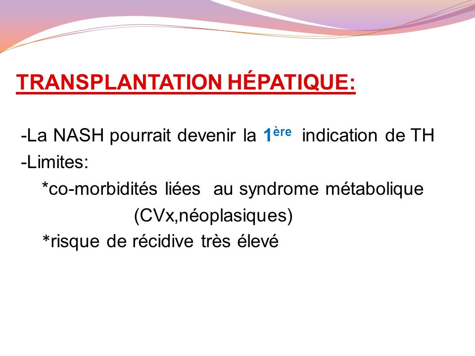 TRANSPLANTATION HÉPATIQUE: