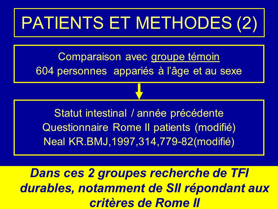 PATIENTS ET METHODES (2)