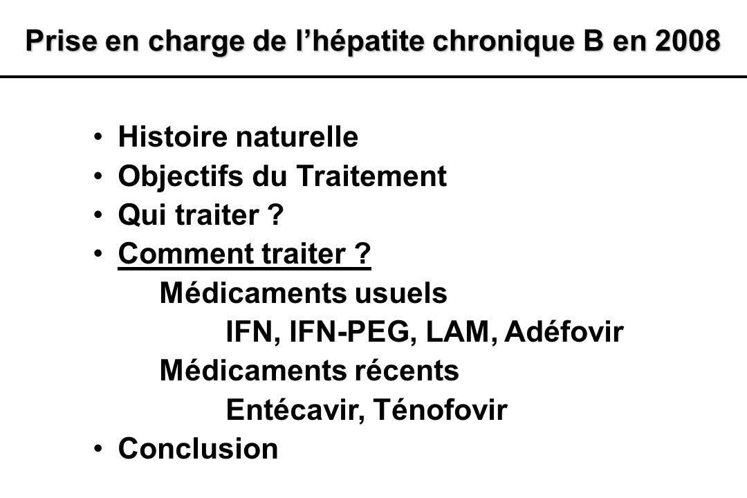 Prise en charge de l'hépatite chronique B en 2008