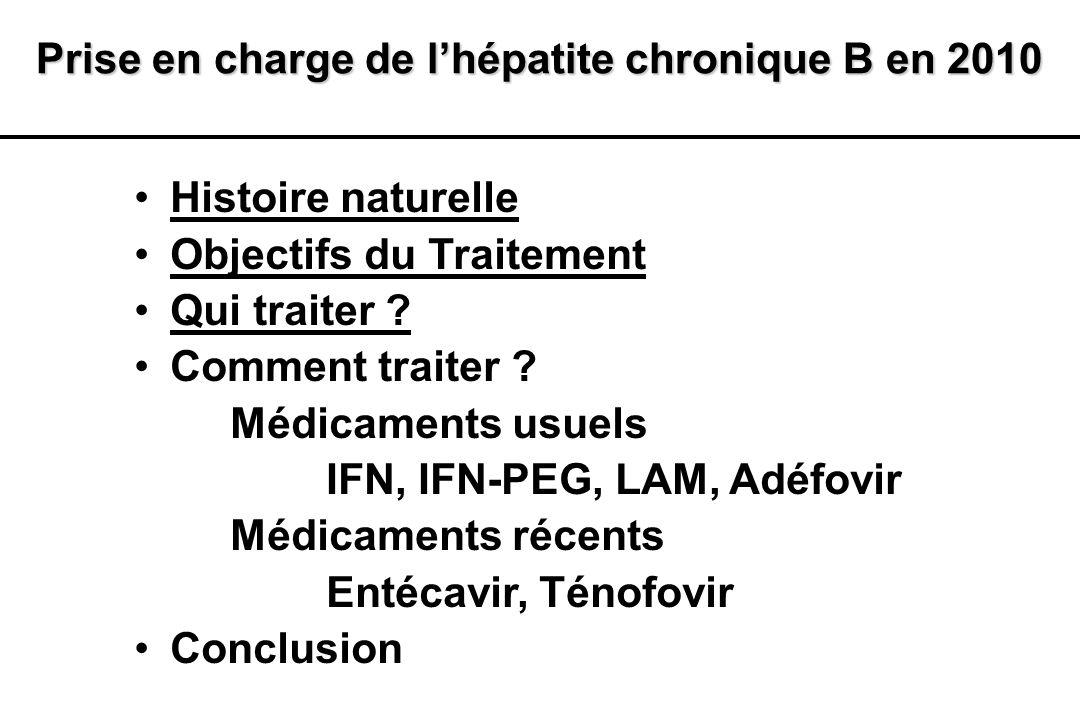 Prise en charge de l'hépatite chronique B en 2010