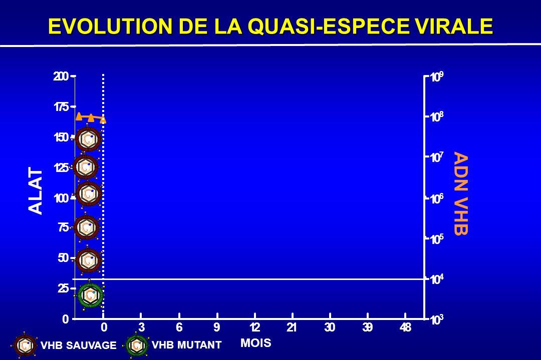 EVOLUTION DE LA QUASI-ESPECE VIRALE