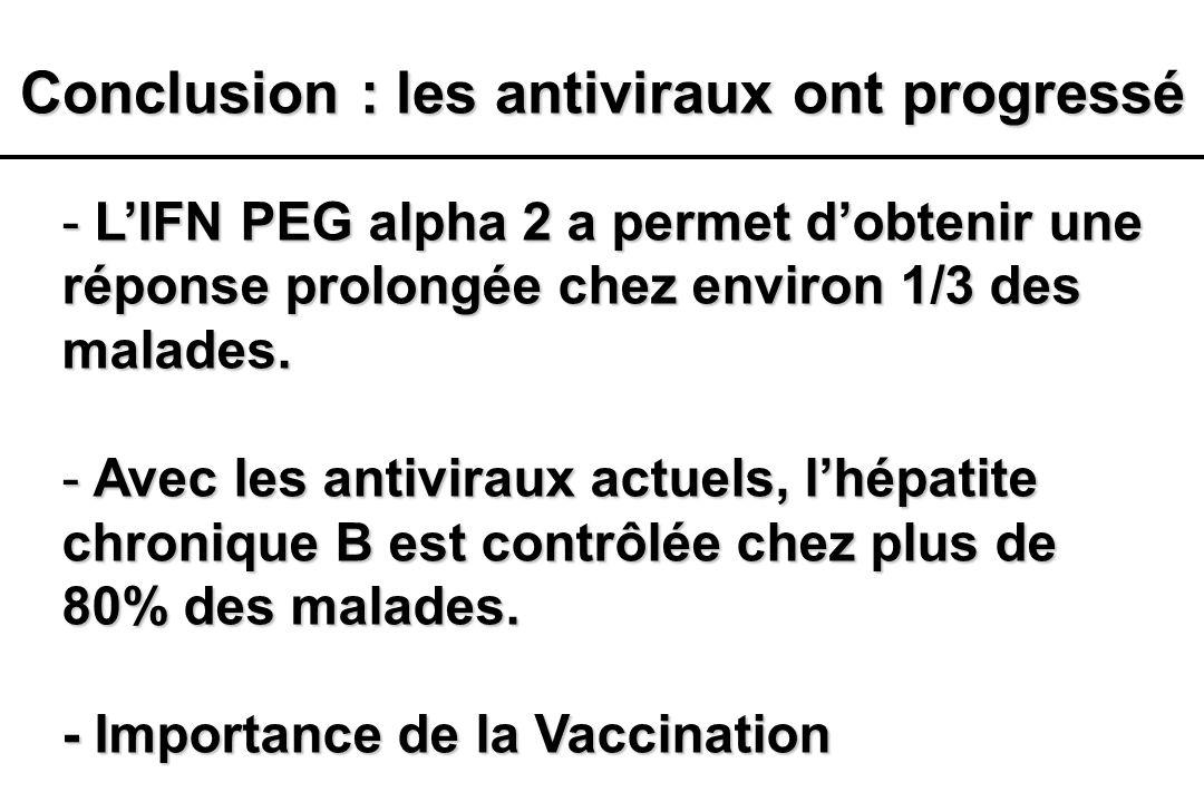 Conclusion : les antiviraux ont progressé