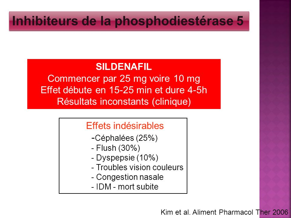 Inhibiteurs de la phosphodiestérase 5