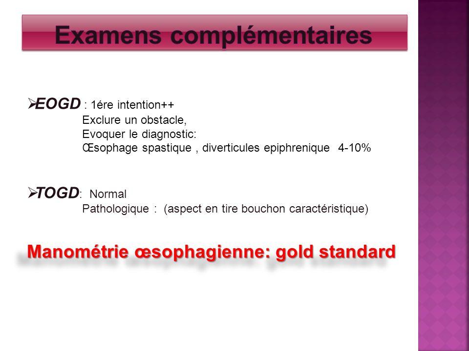 Examens complémentaires