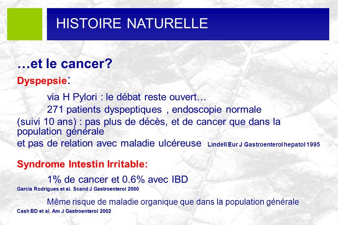 HISTOIRE NATURELLE …et le cancer