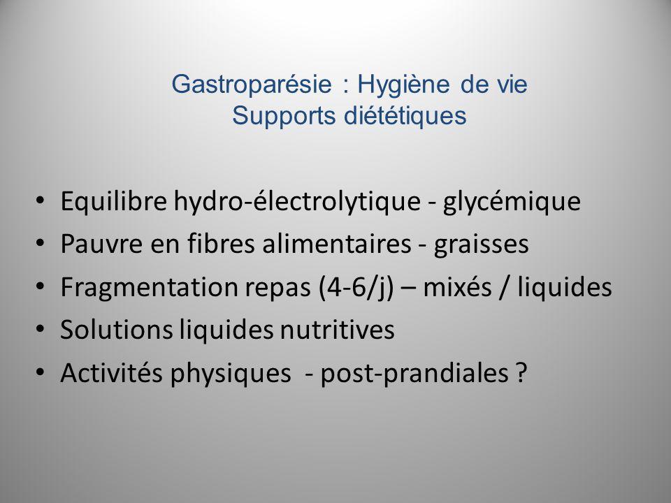 Gastroparésie : Hygiène de vie