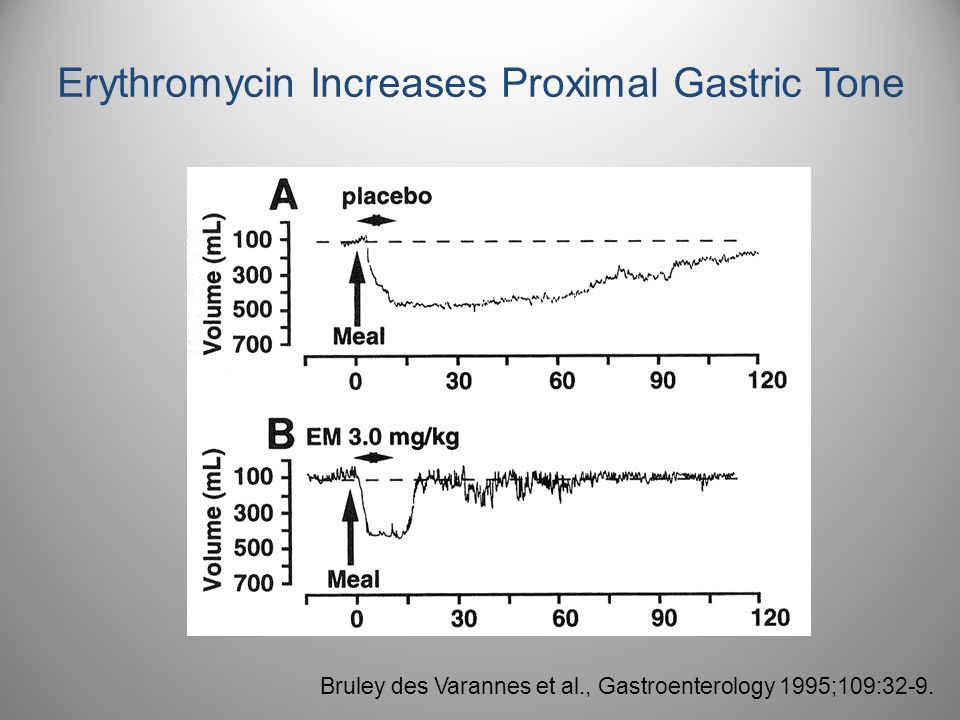 Erythromycin Increases Proximal Gastric Tone