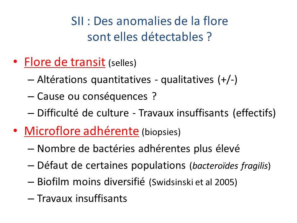 SII : Des anomalies de la flore sont elles détectables