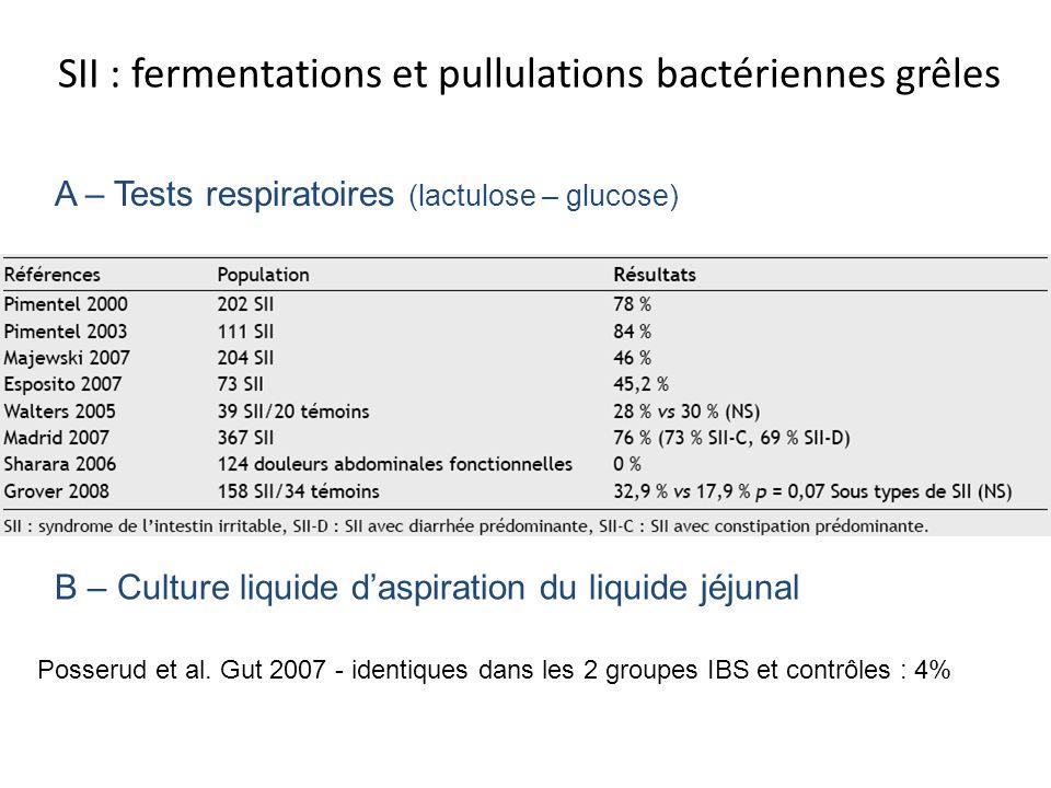 SII : fermentations et pullulations bactériennes grêles