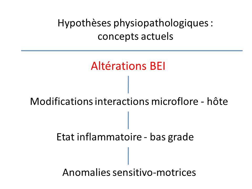 Hypothèses physiopathologiques : concepts actuels