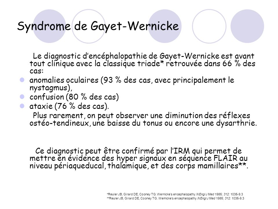 Syndrome de Gayet-Wernicke