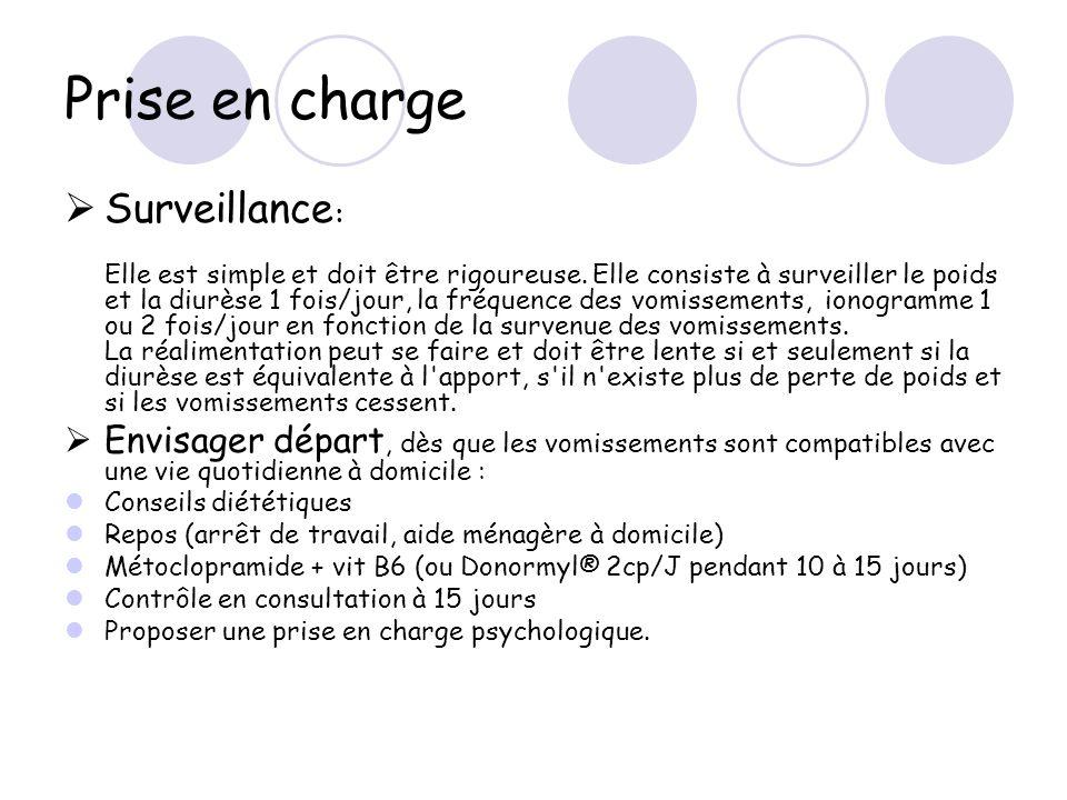 Prise en charge Surveillance: