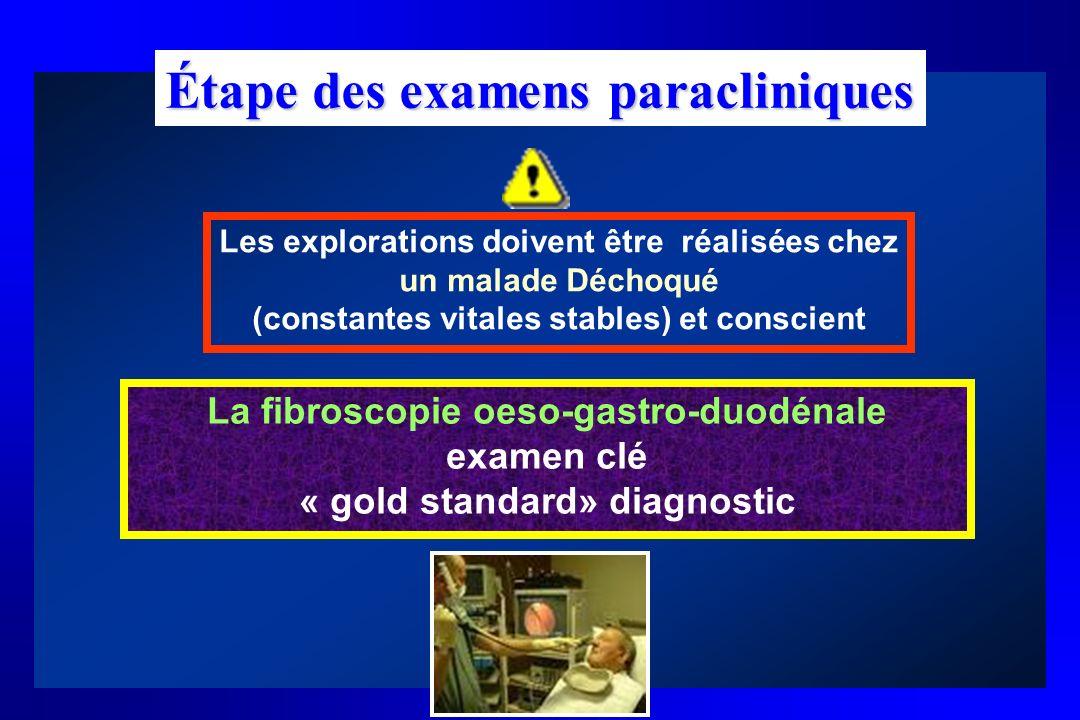 Étape des examens paracliniques